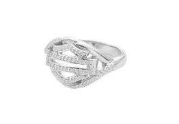 HD CHAIN TWIST DIAMOND RING