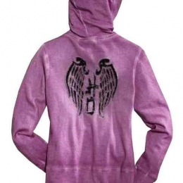 HOODIE-LACE WING,VOILET PROMO