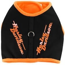 HARNESS VEST BLK W/ORANGE TRIM MEDIUM
