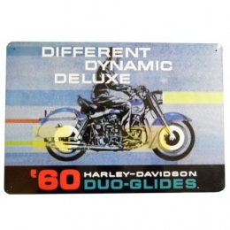 HD 1960 DUO GLIDE TIN SIGN