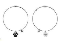BLING PAW CHARM BANGLE