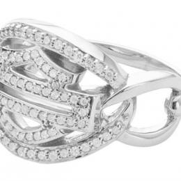 HD CHAIN PAVE DIAMOND RING