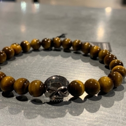 SILVER BRACELET WITH TIGER EYE