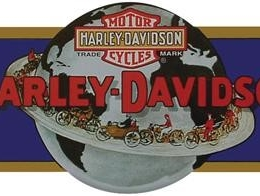 HD GLOBE DIE CUT TIN SIGN