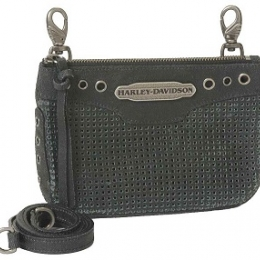 PERFORATED HIP BAG WITH STRAP