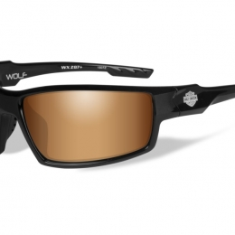 WILEYX HD WOLF BRONZE FLASH GLOSS BLACK FRAME