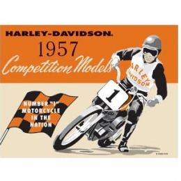 HD COMPETITION TIN SIGN