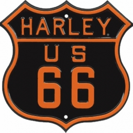 HD ROUTE 66 EMBOSSED STREET SIGN