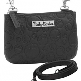 HIP BAG WITH SKULL EMBOSSED