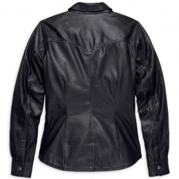 SHIRT JACKET-LEA,MELROSE,BLK