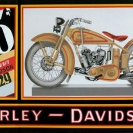HD 45 TWIN TIN SIGN