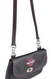 CLIP BAG WITH STRAP  B&S
