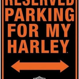 HD RESERVED HARLEY PARKING MAGNEET