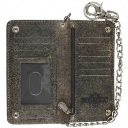 BURNISHED MILITARY BIKER BIFOLD TALL