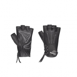 GLOVE-F/L,DISTRESSED,PERF,BLK