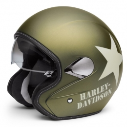 HELMET-3/4,RETRO,MILITARY GREE