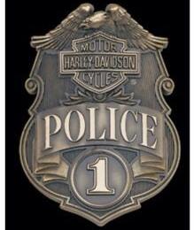 HD POLICE SHIELD MAGNEET