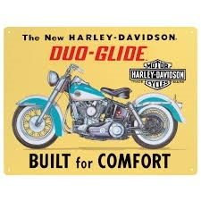 HD BUILT FOR COMFORT  TIN SIGN