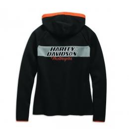 HOODIE-HD RACING,L/S,KNT,BLK