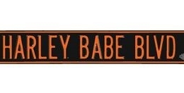 HD HARLEY BABE BLVD  STREET SIGN