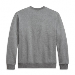 PULLOVER-KNIT,HEATHER GREY