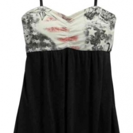 TOP-CUT/OUT,STRAPLESS,BLK PROMO