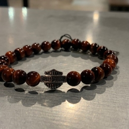 SILVER BRACELET WITH RED TIGER EYE